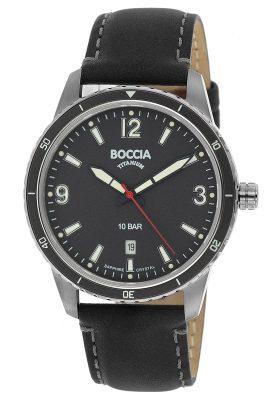 Boccia 3635-01 Titan Herrenuhr mit Saphirglas