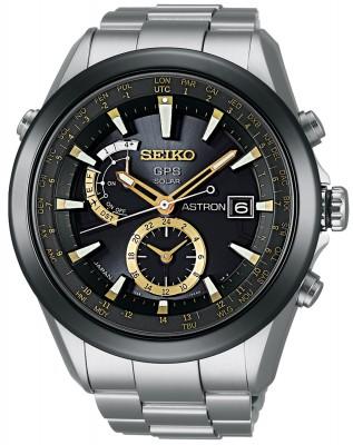 Seiko SAST005G Astron GPS Solar Herren-Armbanduhr