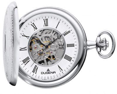 Dugena 4460637 Skelett-Taschenuhr mit Handaufzug