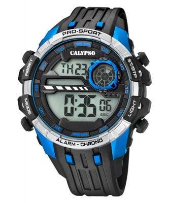 Calypso K5729/3 Digitaluhr Alarm-Chronograph Schwarz/Blau
