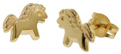 35806 Kinder Gold-Ohrringe Pony