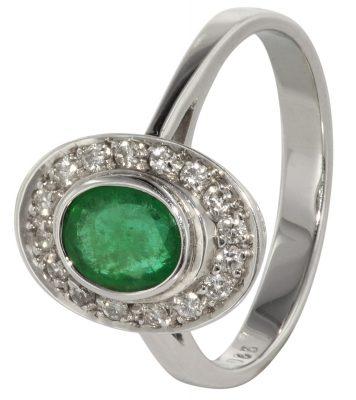70647 Smaragd-Ring Weißgold