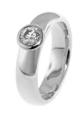 trendor 532502 Solitärring für Damen 585 Weißgold mit Diamant