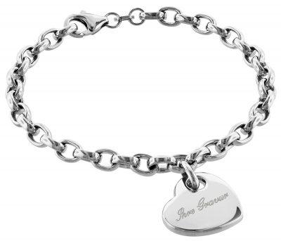 trendor 79398 Silber Armband mit Gravurplatte