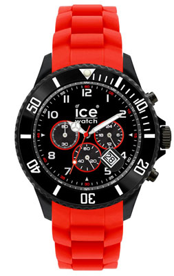 Ice-Watch CH.BR.B.S.10 Black Sili Red Herren-Chronograph