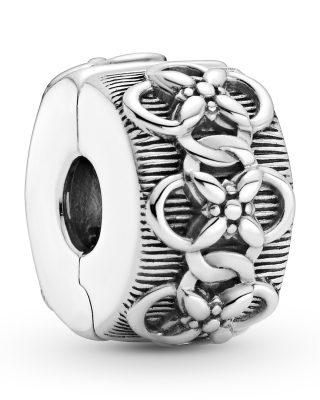 Pandora 799316C00 Silber Clip-Charm Blumenmuster