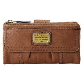 Fossil SL2931 Emory Clutch Damen-Geldbeutel Braun
