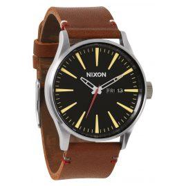 Nixon A105 019 Sentry Leather Black Brown Herrenuhr