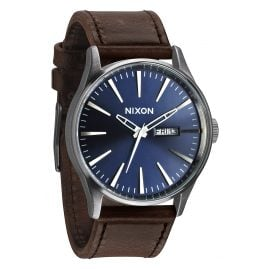 Nixon A105 1524 Sentry Leather Herrenuhr Blue/Brown