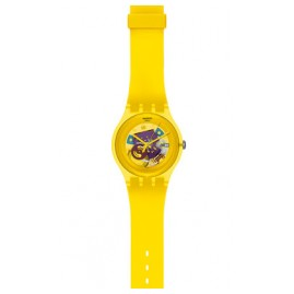 Swatch SUOJ100 Yellow Lacquered Armbanduhr