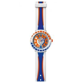 Flik Flak FCSP009 All Around Blue & Orange Kinderuhr