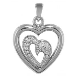 trendor 73303 Silber-Anhänger Herz