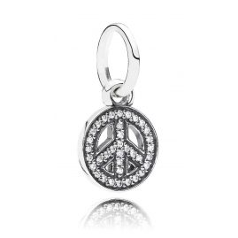 Pandora 791308CZ Silber Anhänger Peace