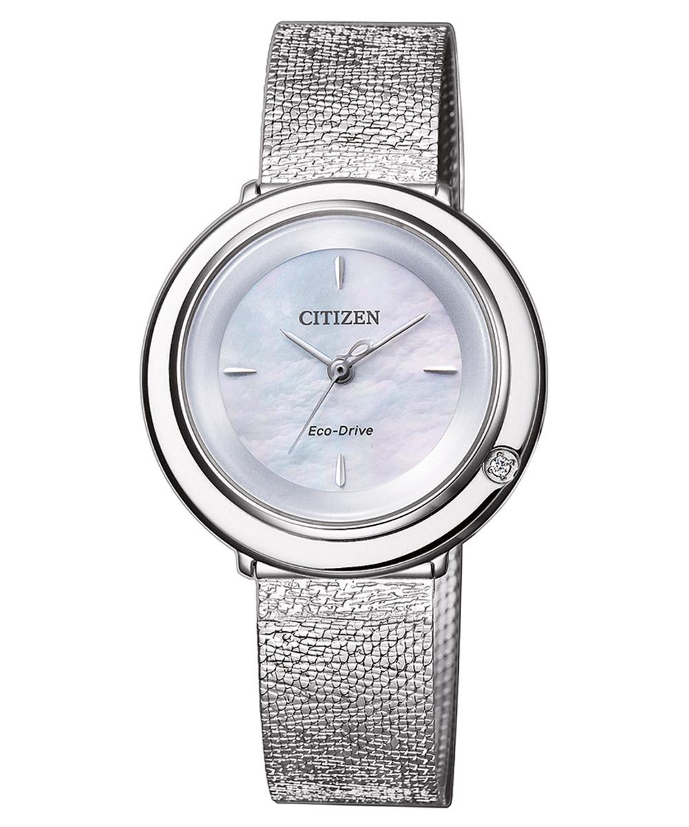 bei Uhrcenter: Citizen EM0640-82D Eco-Drive Damenuhr Elegance mit Diamant - Damenuhr