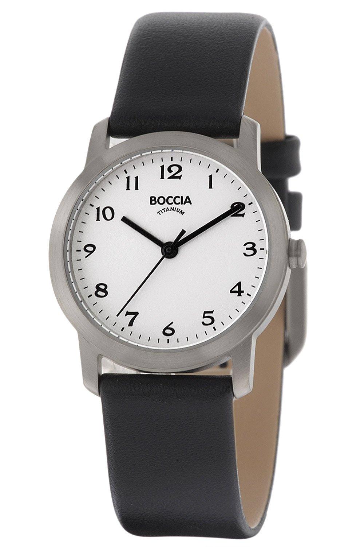 bei Uhrcenter: Boccia 3291-01 Titan-Damenuhr mit Lederarmband - Damenuhr