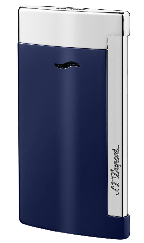 S.T. Dupont 027709 Feuerzeug Slim 7 Bleu & Chrome