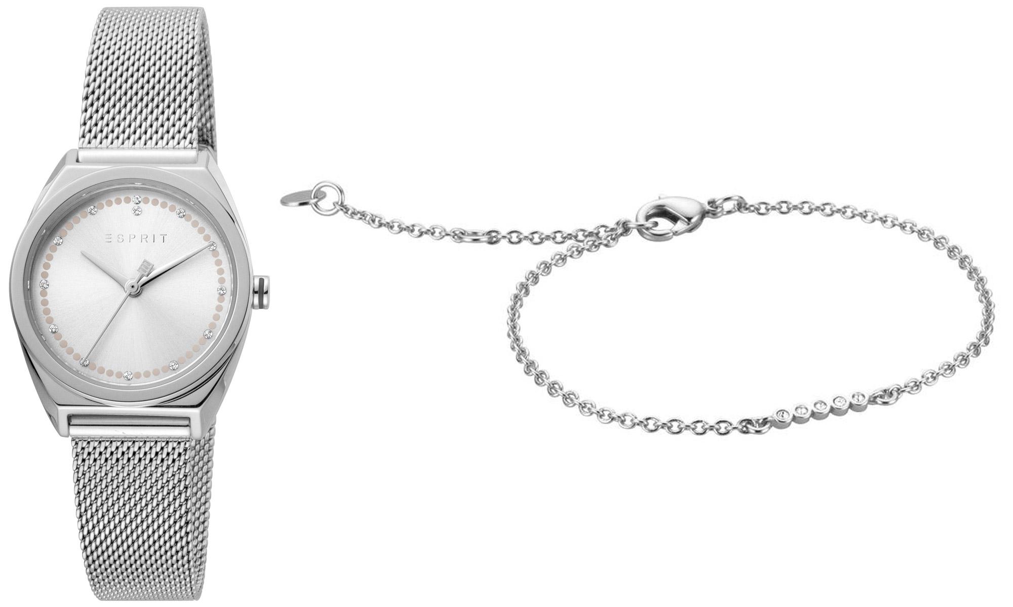 bei Uhrcenter: Esprit ES1L100M0055 Damenuhr-Set mit Armband Slice Dot - Damenuhr