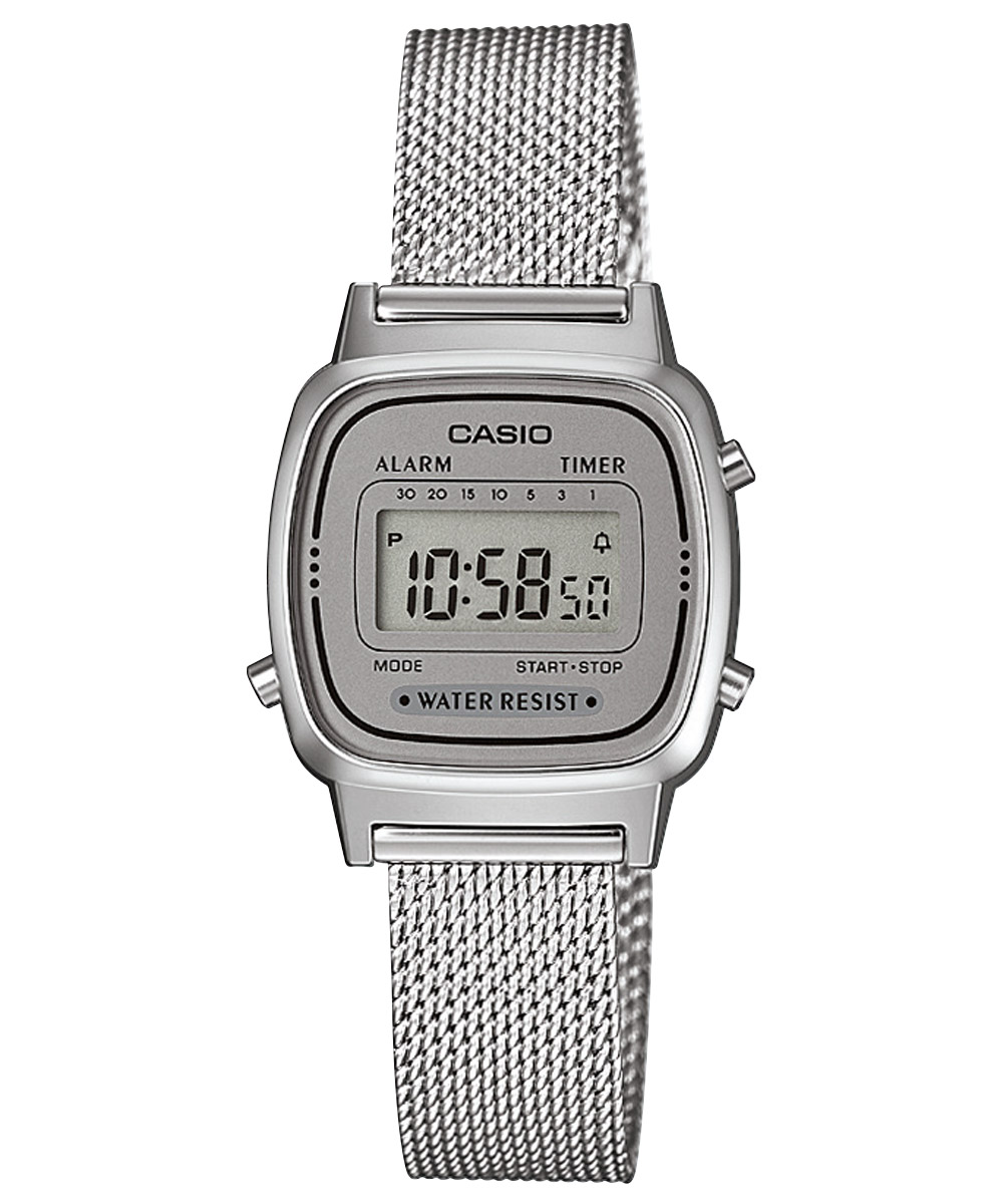 bei Uhrcenter: Casio LA670WEM-7EF Retro Digital Damenuhr - Damenuhr
