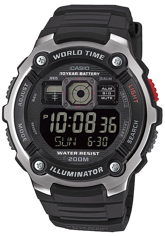 Casio AE-2000W-1BVEF Digitaluhr 20 Bar Wasserdicht