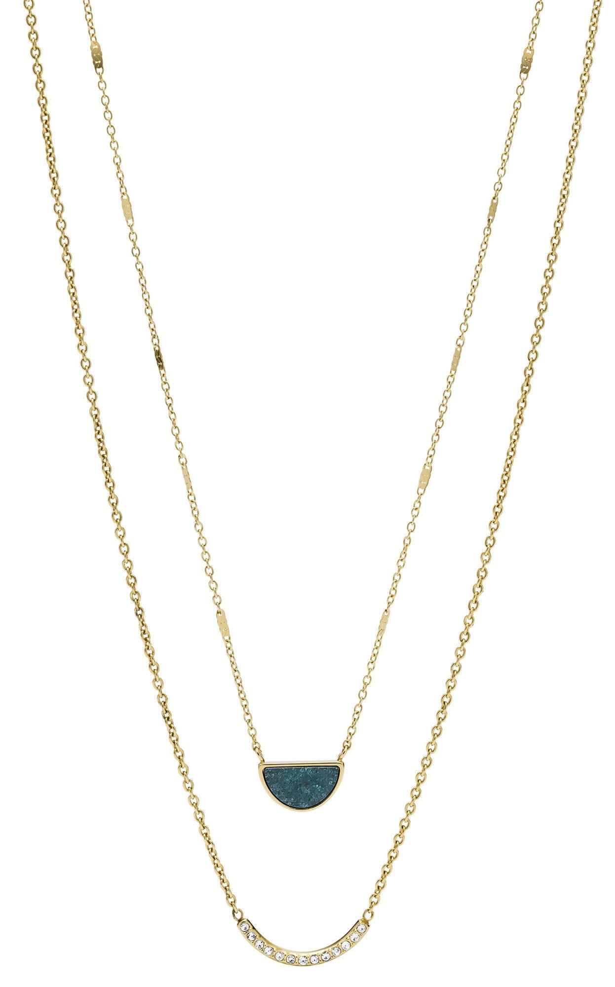 bei Uhrcenter: Fossil JF02947710 Damen-Halskette Halbmond - Schmuck