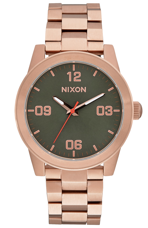 bei Uhrcenter: Nixon A919 2283 G.I. SS Rose Gold/Green Damenuhr - Damenuhr