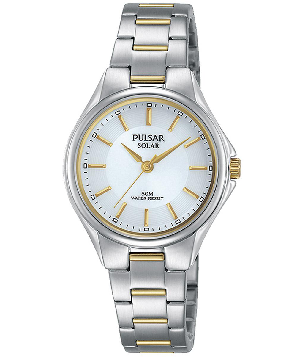 bei Uhrcenter: Pulsar PY5035X1 Damenuhr Solar Bicolor - Damenuhr