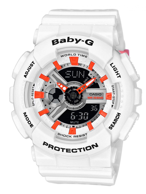 Uhrcenter.de Casio BA-110PP-7A2ER Baby-G Armbanduhr Weiß