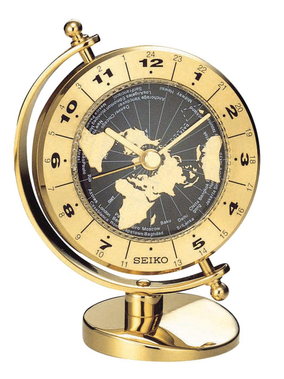 Seiko QHG106G Tischuhr Globus