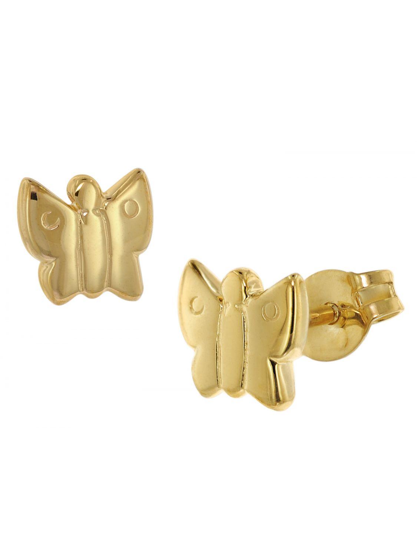 trendor 48634 Gold Ohrringe Schmetterling