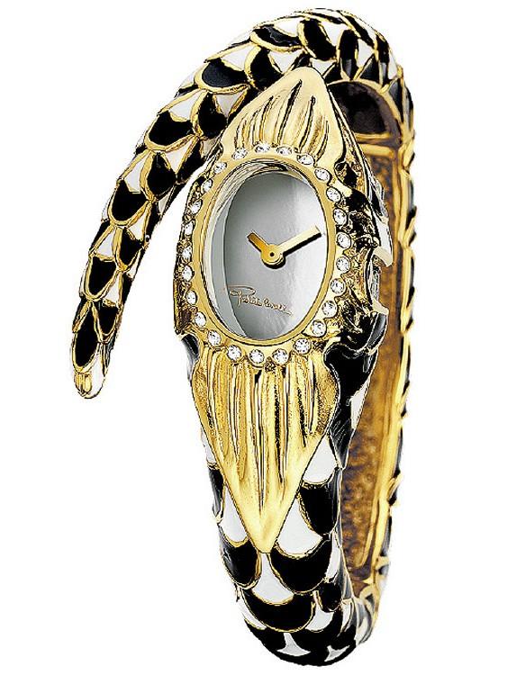 Roberto Cavalli R7253112545 Snakeflower Ladies Bangle Watch
