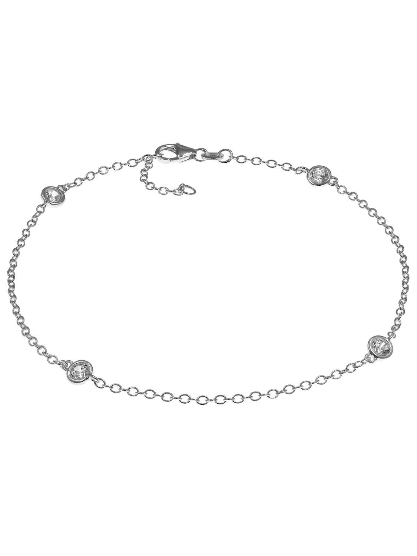 Vorschaubild von trendor 35680 Silber Fußkettchen mit Zirkonias