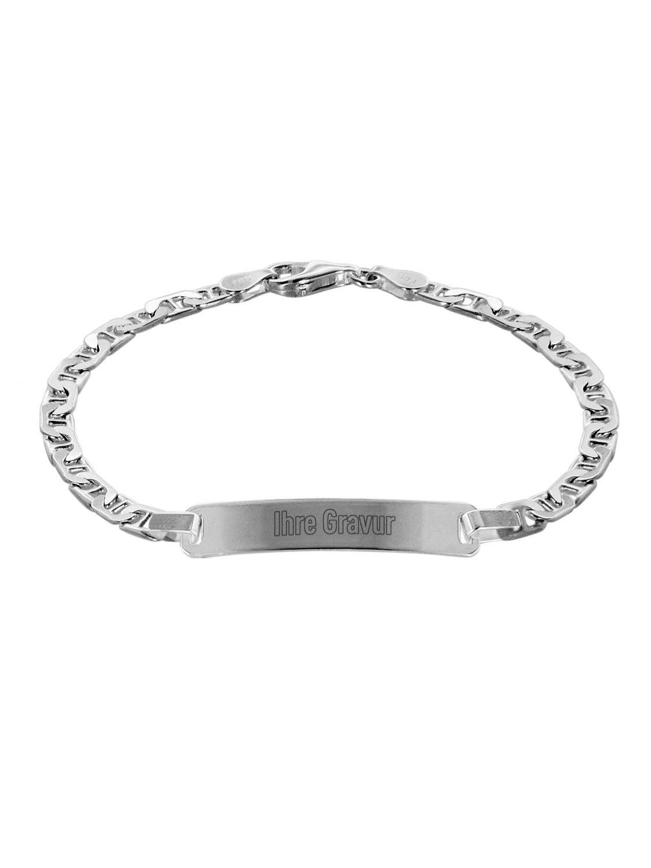trendor 88636 Silber Damen ID-Armband 19 cm - Preisvergleich