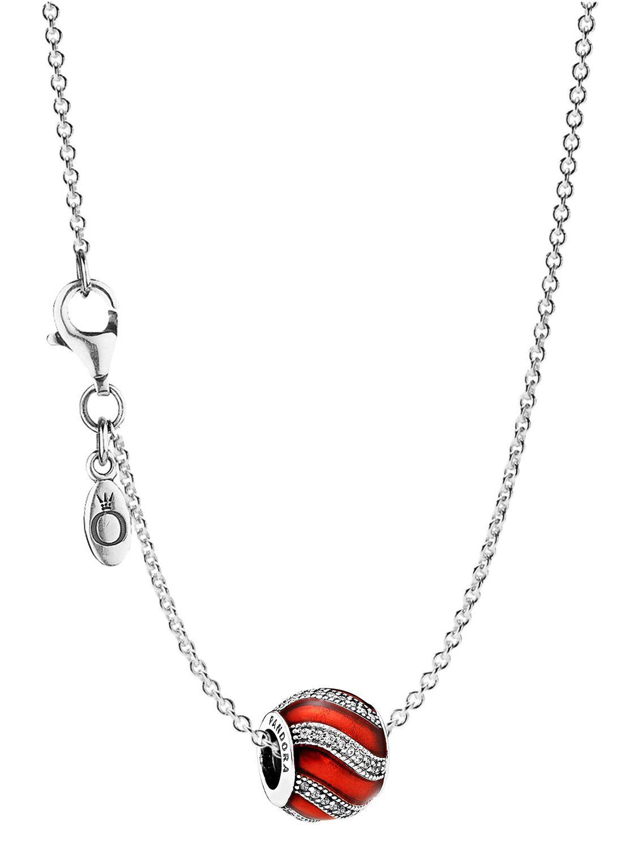 Pandora 08024 Halskette mit Anhänger Ornament Rot - Preisvergleich