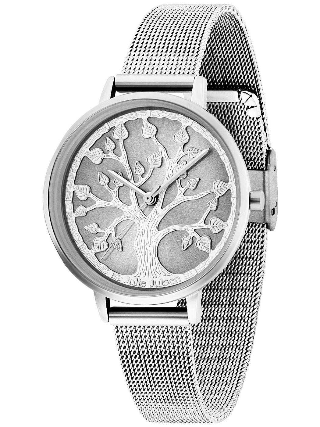 Julie Julsen JJW101SME Damen-Armbanduhr Lebensbaum