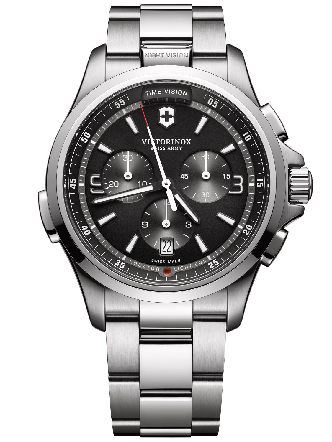 Victorinox 241780 Herrenuhr Night Vision Chrono...
