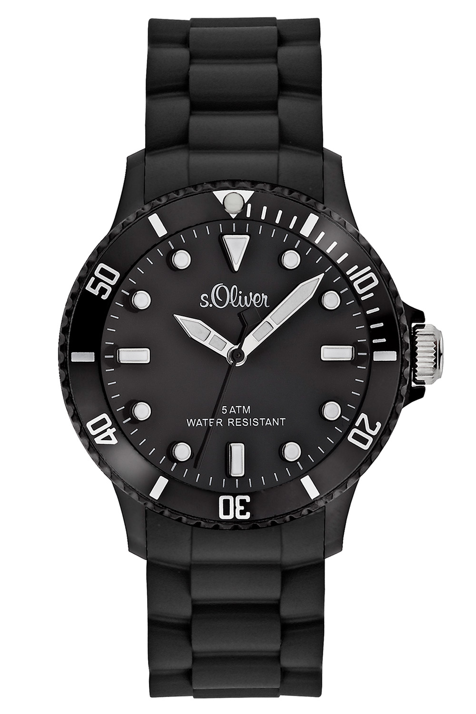 s.Oliver SO-2290-PQ Armbanduhr Schwarz
