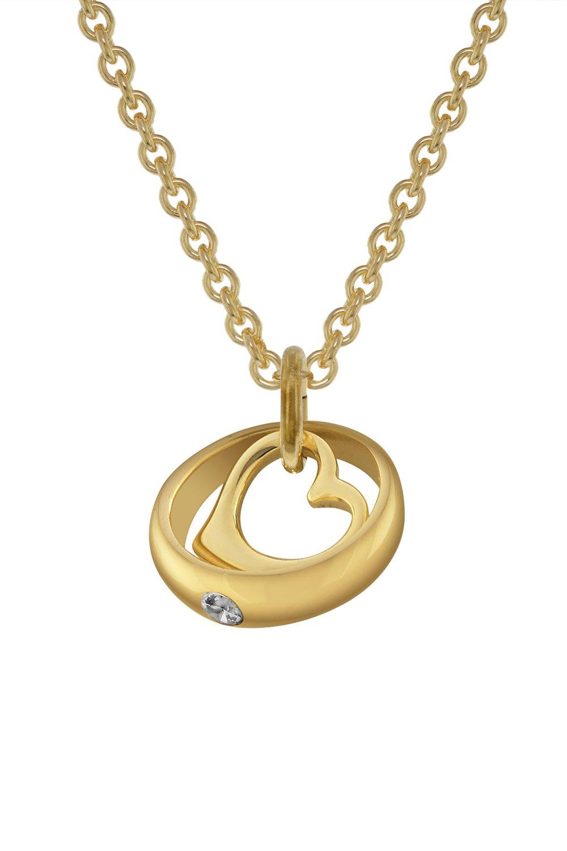 bei Uhrcenter: trendor 78285 Taufring-Anhänger Gold 333 mit 42 cm goldplattierter Halskette - Schmuck