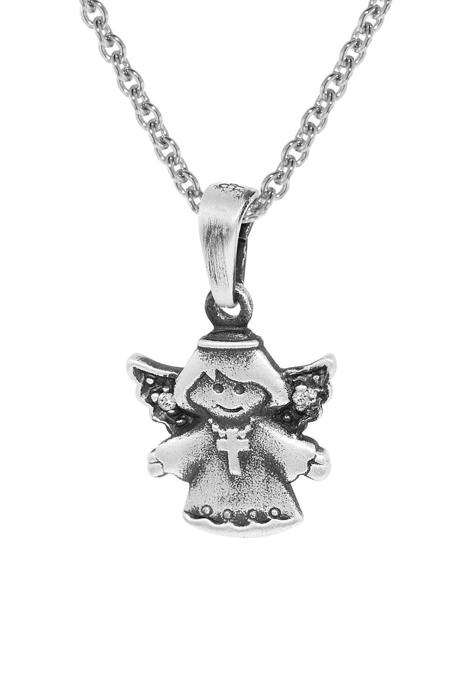 trendor 35870 Silberanhänger Engel mit Kette für Kinder