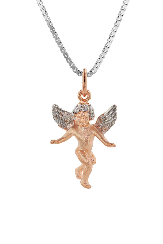 trendor 79138 Silberkette mit Engel-Anhänger