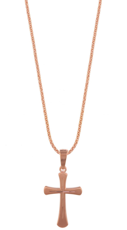 trendor 79411 Silber Kinder-Halskette mit Kreuz...