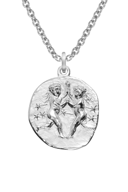 trendor 08446 Silber Sternzeichen Zwilling mit Halskette