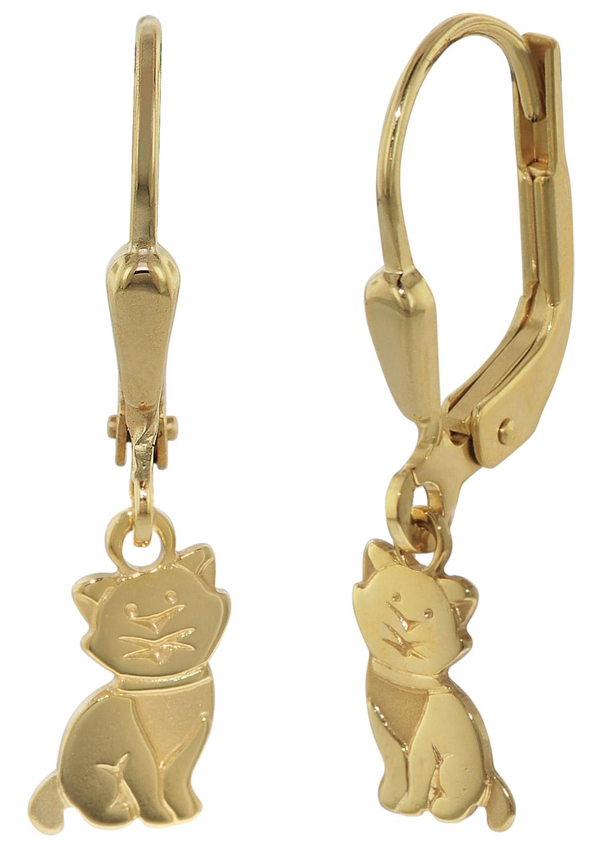 trendor 35921 Ohrhänger Gold Katze