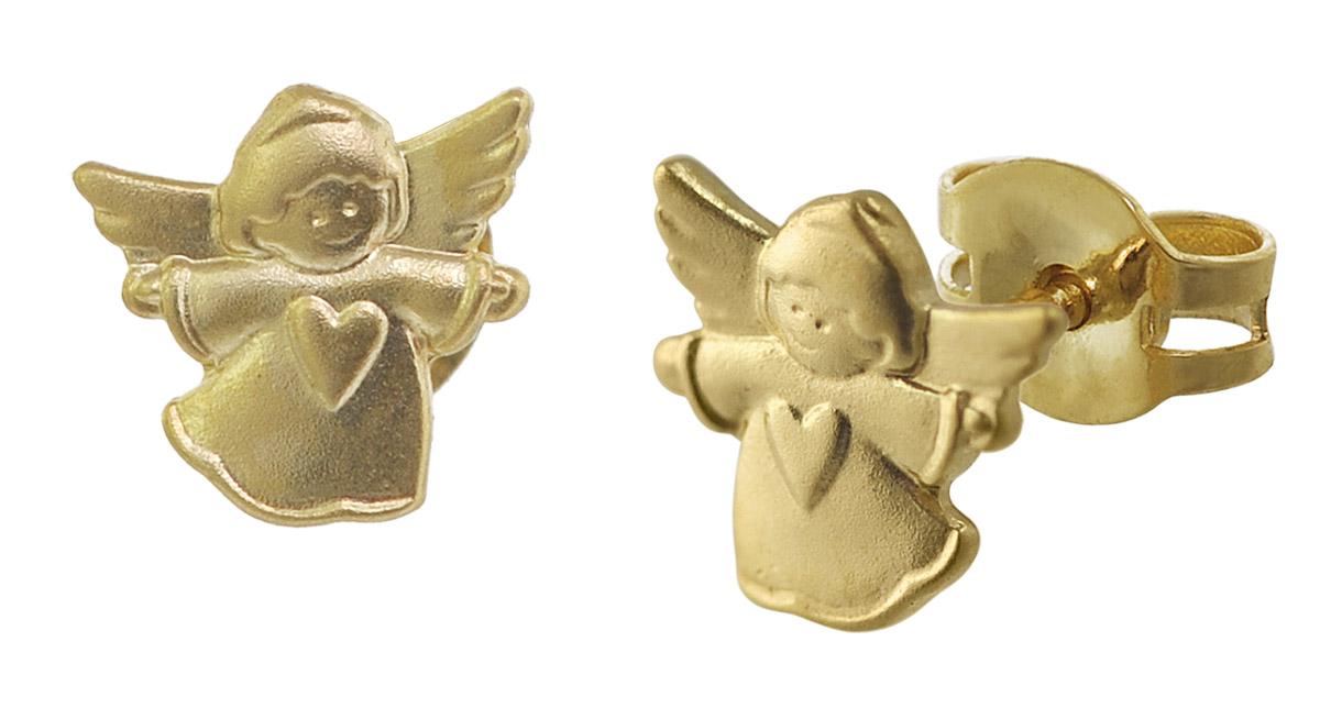 trendor 08394 Gold Ohrstecker Engel