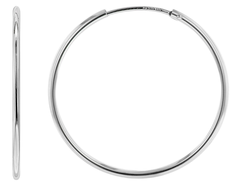 trendor 08465 Silber Creolen Ohrringe 32 mm