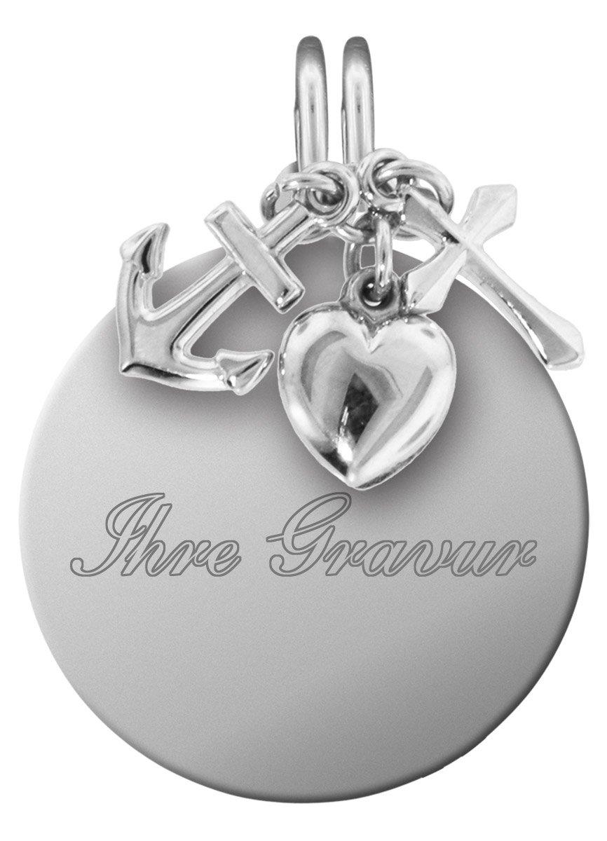 bei Uhrcenter: trendor 87738 Silber Gravur-Anhänger Set Glaube, Liebe, Hoffnung - Schmuck