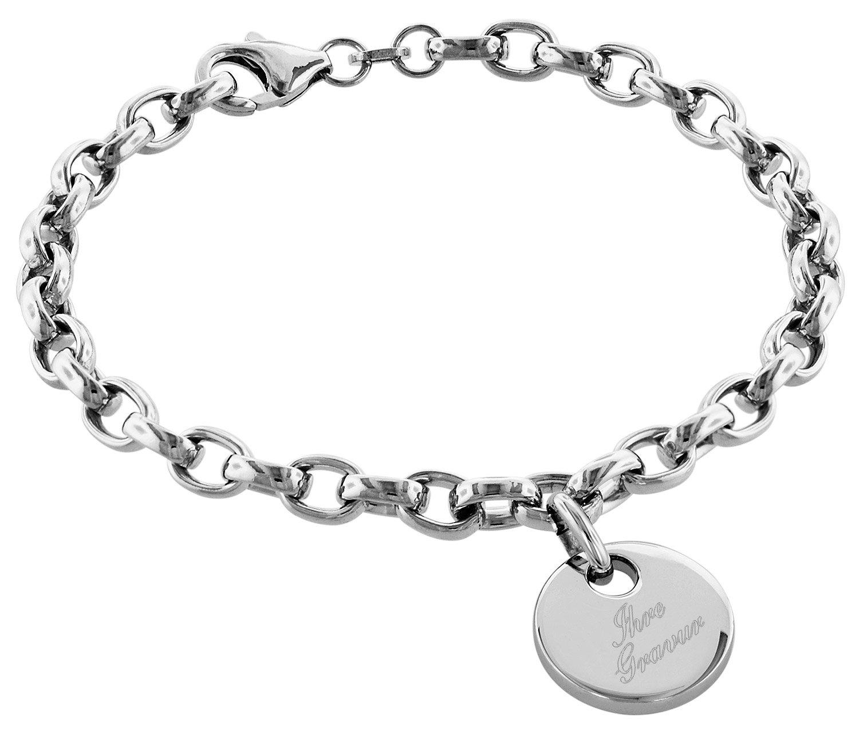 bei Uhrcenter: trendor 79381 Silber Armband mit Gravurplatte - Schmuck