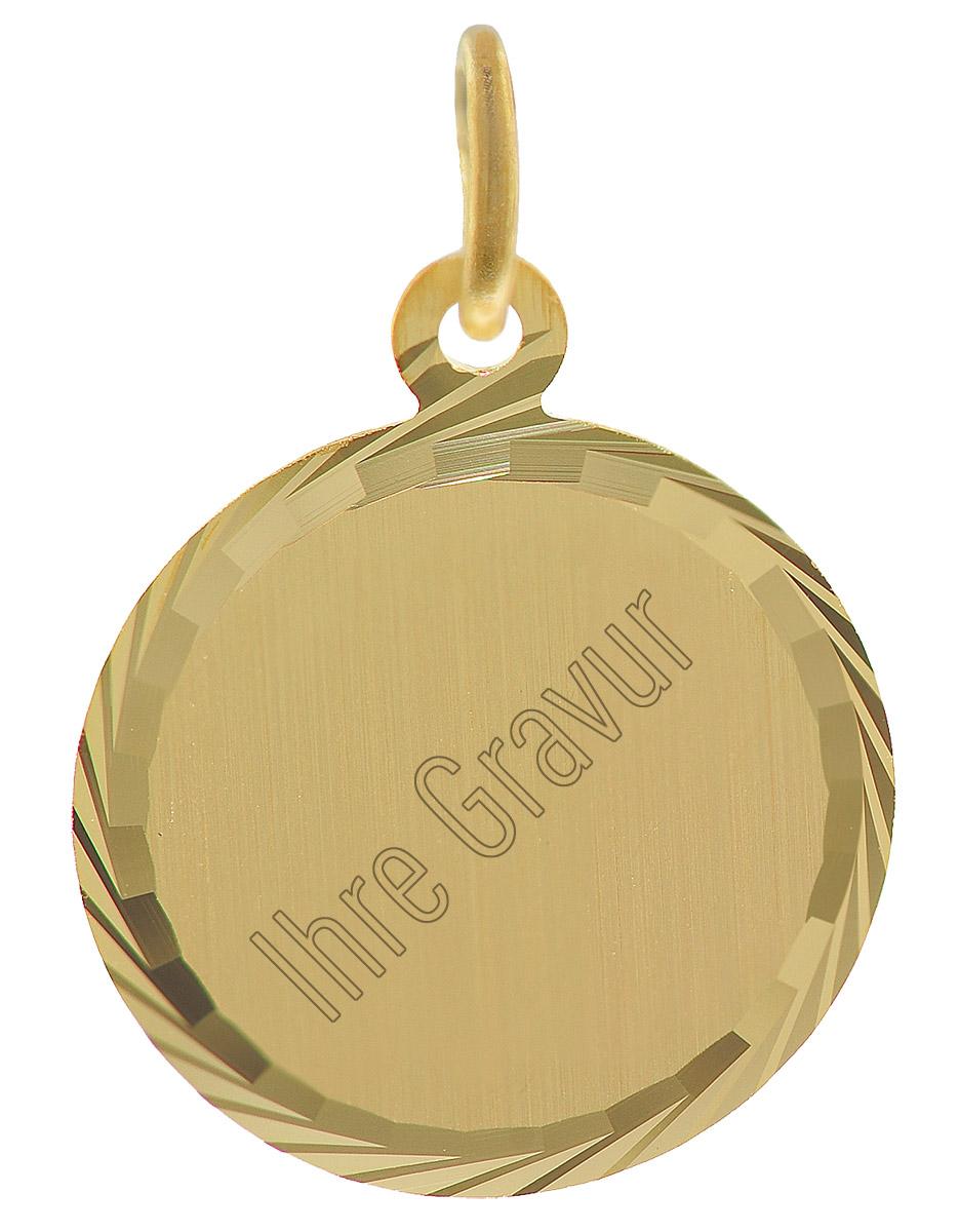 trendor 35778 Gold-Anhänger Gravurplatte