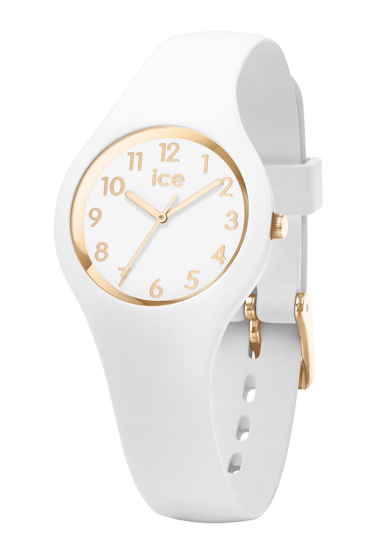 bei Uhrcenter: Ice-Watch 015341 Damenuhr Ice Glam Weiß/Gold XS - Damenuhr