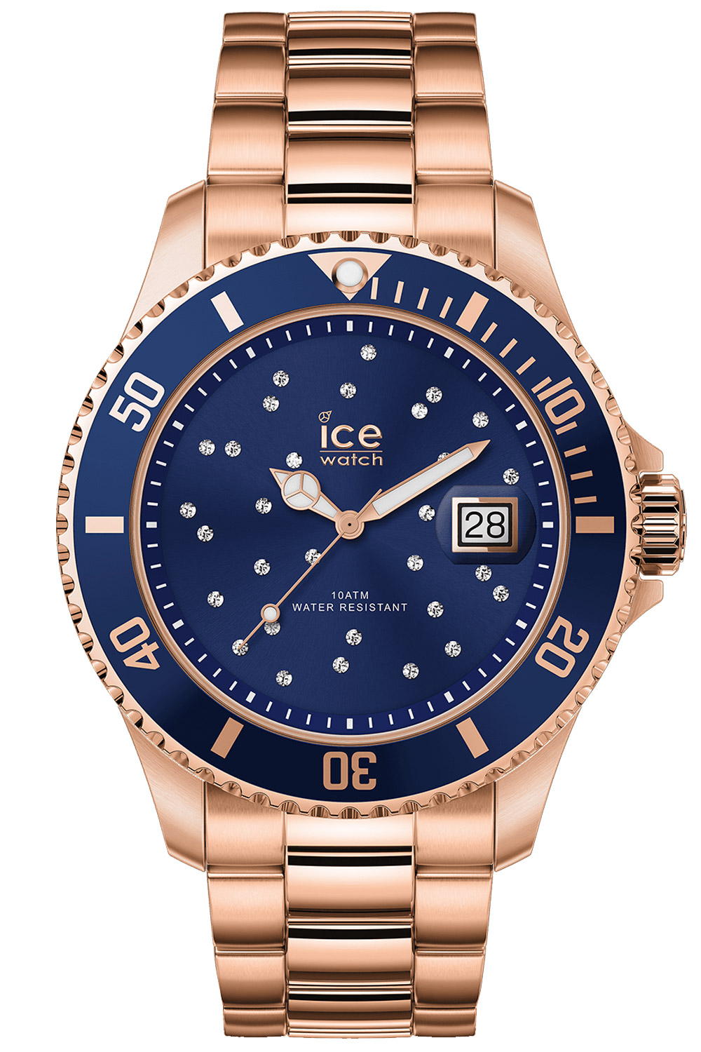 bei Uhrcenter: Ice-Watch 016774 Damenuhr Ice Steel Blue Cosmos Rose-Gold M - Damenuhr