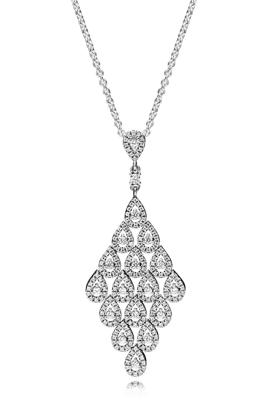 Pandora 396262CZ Damen-Halskette Fließender Glanz